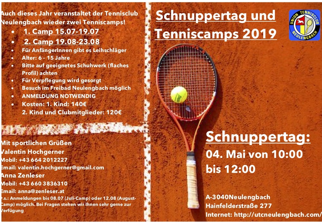 FLYER Tenniscamps